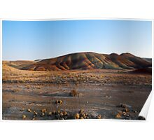 Desert landscape great outdoors of America Painted Hills at sunset fine art color wall art - Cala il sole Poster