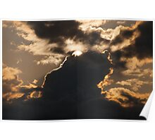 Epic sunset behind great cloud formations sun sky fine art color wall art - Le creature del Cielo Poster