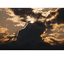 Epic sunset behind great cloud formations sun sky fine art color wall art - Le creature del Cielo Photographic Print