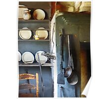 Ladles and Spatula in Kitchen Poster