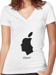 deGeneration Apple Women's Fitted V-Neck T-Shirt