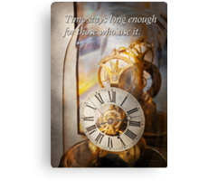Inspirational - Time - A look back in time - Da Vinci Canvas Print