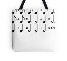 Music Math BLACK Tote Bag