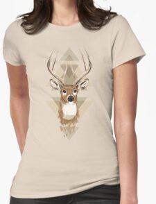 Geometric Deer Womens Fitted T-Shirt