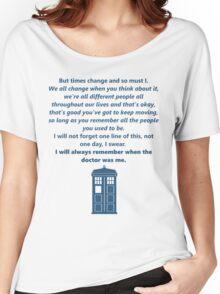 The 11th Doctor's Final Speech Women's Relaxed Fit T-Shirt