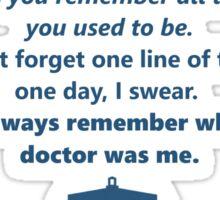 The 11th Doctor's Final Speech Sticker