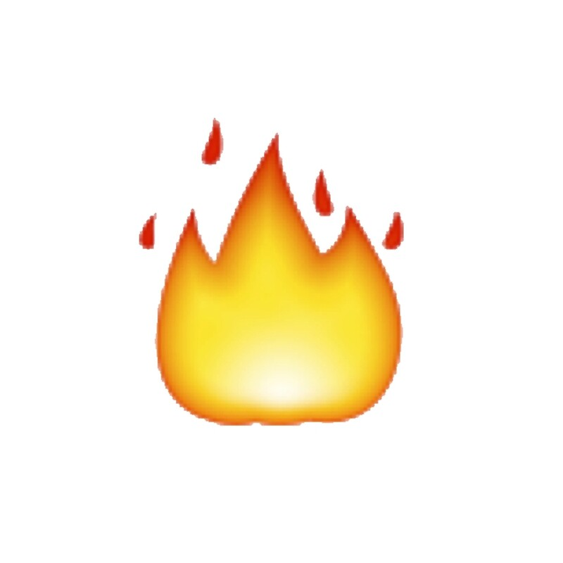 Quot Fire Emoji Quot By Victoriab 123 Redbubble