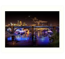 Moon Over Mill City Art Print