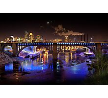 Moon Over Mill City Photographic Print