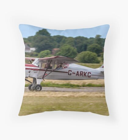 Auster J/5G Autocar G-ARKG Throw Pillow
