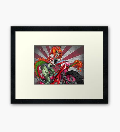Bosozoku Dragon Girl Framed Print