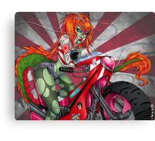 Bosozoku Dragon Girl Canvas Print