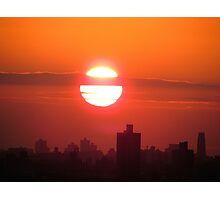 December sunset in  New York City  Photographic Print