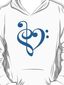 Treble-Bass Heart BLUE T-Shirt