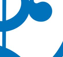 Treble-Bass Heart BLUE Sticker