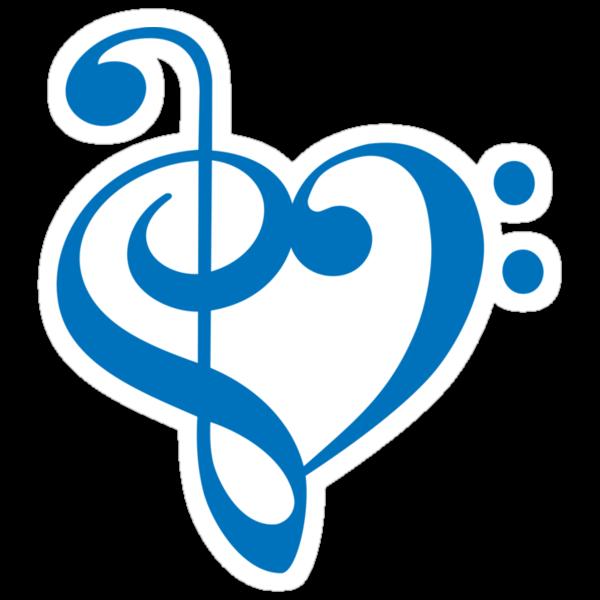 Treble-Bass Heart BLUE by rjburke24