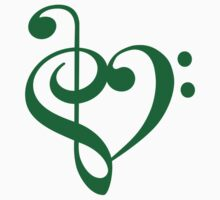 Treble-Bass Heart GREEN by rjburke24