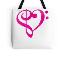 Treble-Bass Heart PINK Tote Bag