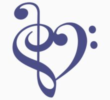 Treble-Bass Heart PURPLE by rjburke24