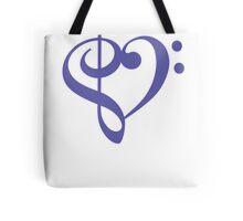 Treble-Bass Heart PURPLE Tote Bag