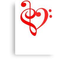 Treble-Bass Heart RED Metal Print