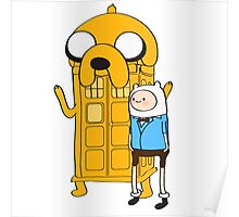Police Box Jake and Finn Poster