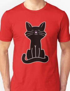 Sitting Black Cat Unisex T-Shirt