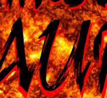 crimson aura 6 Sticker