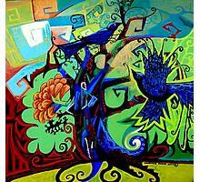 Gargoyle Crows Photographic Print