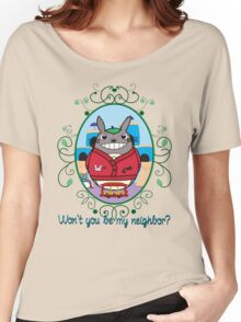 Mr. Totoro's Neighborhood. Women's Relaxed Fit T-Shirt