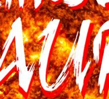 crimson aura 7 Sticker