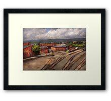 Train - Entering the train yard Framed Print