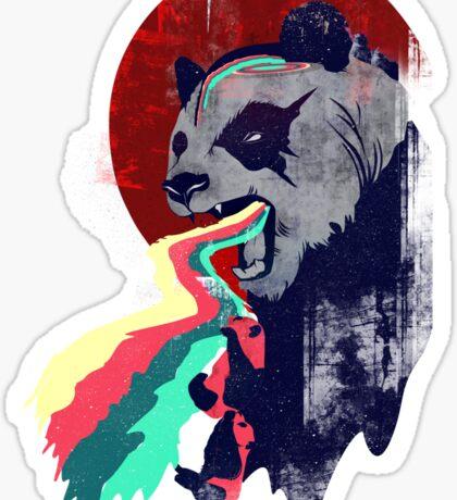 Angry Rainbow Panda Sticker