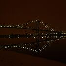 Ambassador Bridge Light Amazing Reflections by Barry W  King