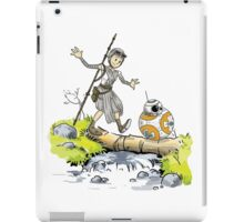 Star Wars The Force Awakens / Calvin and Hobbes- BB-8 and Rey iPad Case/Skin