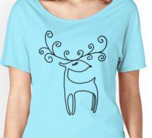 Sweet Reindeer Women's Relaxed Fit T-Shirt