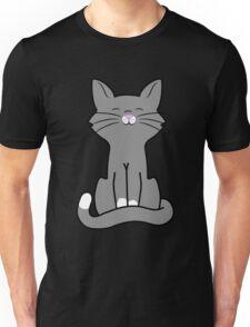 Sitting Gray Cat Unisex T-Shirt