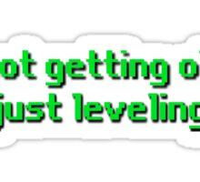 Leveling up Sticker