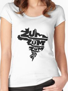 ZZZum Brazil logo Women's Fitted Scoop T-Shirt