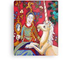 Lady & The Unicorn (La Vue) Metal Print