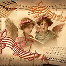 Heavenly Angelic Music (collage) by Jane Neill-Hancock