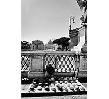 Street Salesman Photographic Print