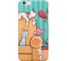 Five Cats and the Ugly Chair iPhone Case/Skin