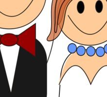 Bride And Groom Sticker