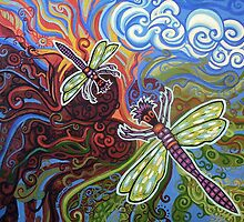Two Dragonflies by Genevieve Esson