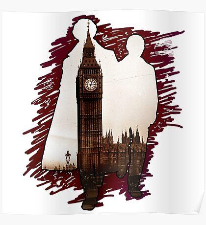 Sherlock Holmes Sillhoute Poster
