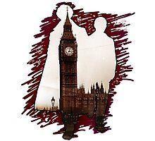 Sherlock Holmes Sillhoute Photographic Print