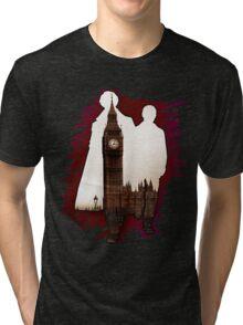 Sherlock Holmes Sillhoute Tri-blend T-Shirt