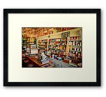 Nostalgic Mercantile Framed Print