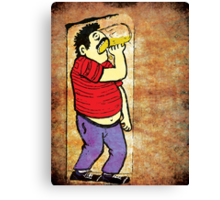 Drinking Beer T-Shirt - Stickers Canvas Print